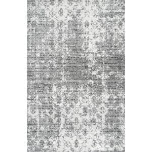 Deedra Misty Contemporary Gray 3 ft. x 5 ft. Area Rug