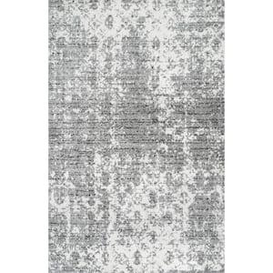 Deedra Misty Contemporary Gray 8 ft. x 10 ft. Area Rug