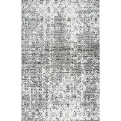 Deedra Misty Contemporary Gray 8 ft. x 10 ft. Area Rug