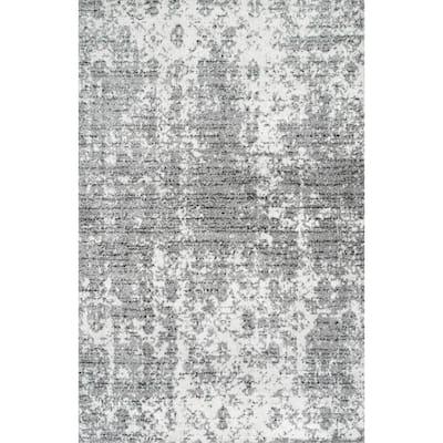 Deedra Misty Contemporary Gray 8 ft. x 12 ft. Area Rug