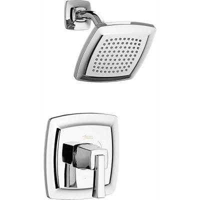 Townsend Water Saving Shower Faucet Trim Kit for Flash Rough-in Valves in Polished Chrome (Valve Not Included)