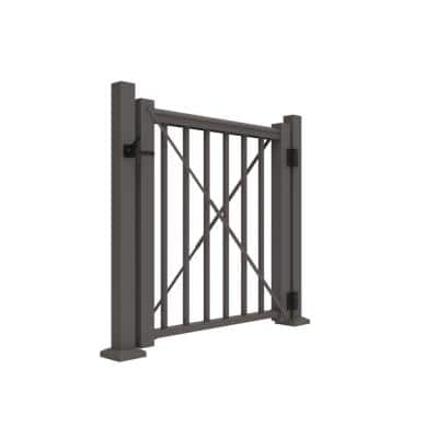 Avalon 36 in. H Aluminum Gate Kit, 36 in. Rail Height in Aged Bronze