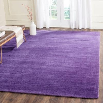Himalaya Purple 9 ft. x 12 ft. Solid Area Rug