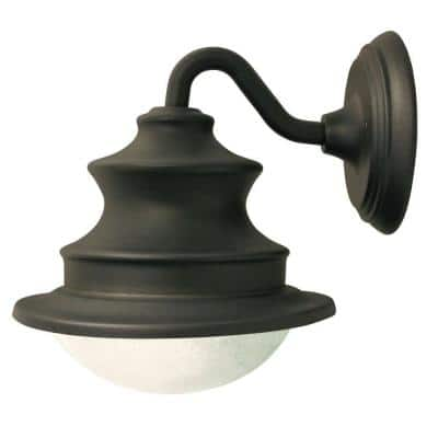 Barn Solar Brown Outdoor Integrated LED Wall Light Sconce