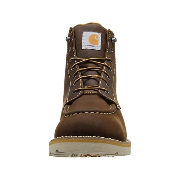 Carhartt Men S Waterproof 6 Work Boots Soft Toe Brown Size 12 W Cmw6095 12w The Home Depot
