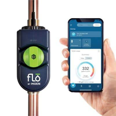 Flo by 1.25 in. Water Leak Detector with Automatic Water Shut Off Valve