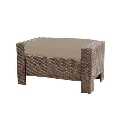 Beverly Patio Ottoman with Beverly Beige Cushion