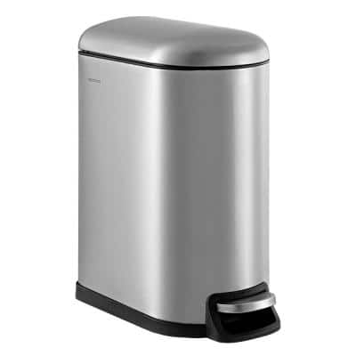 Roland 10.6 Gal. Chrome Step-Open Trash Can