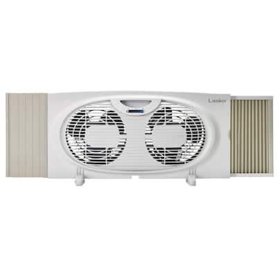 7 in. 2-Speed Twin Window Fan for Intake or Exhaust