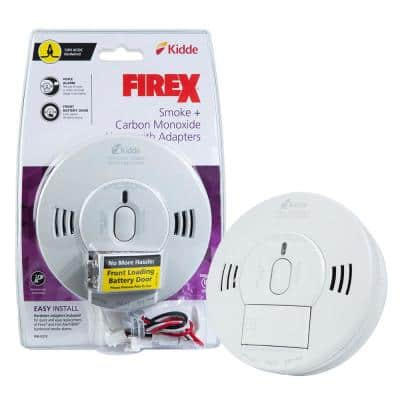 Firex Hardwired Combination Smoke and Carbon Monoxide Detector with Adapters and Voice Alarm