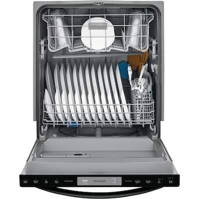 24 in. Black Top Control Built-In Tall Tub Dishwasher, ENERGY STAR, 54 dBA
