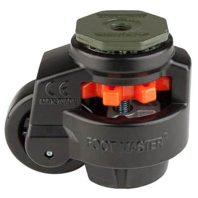 3 in. Nylon Wheel Metric Stem Leveling Caster with Load Rating 1650 lbs.