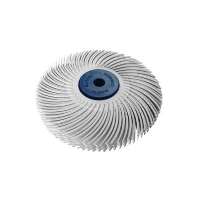 Sunburst 3 in. 6-Ply Radial Discs 1/4 in. Medium 120-Grit Arbor Thermoplastic Cleaning and Polishing Tool(1-Pack)