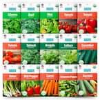 Organic Garden Essentials Vegetable Seeds Variety (15-Pack)