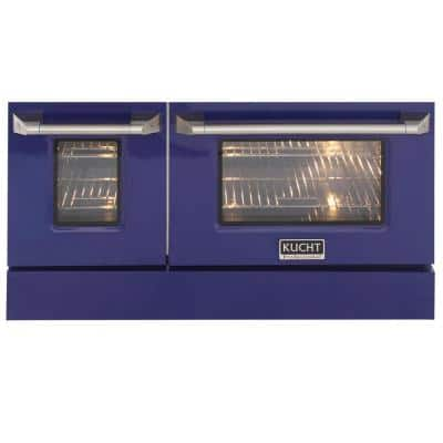 Oven Door and Kick-Plate 48 in. Blue Color for KNG481 (Large and Small Ovens)