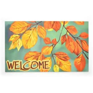 Crumb Rubber Last Leaves 18 in. x 30 in. Recycled Rubber Door Mat