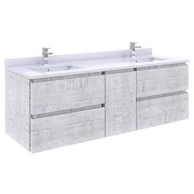 Fresca Formosa 53 In W X 20 D 19, Double Sink Bathroom Vanity Without Top