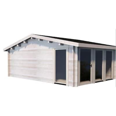 Vivin C 9 ft. 9 in. x 16 ft. 8 in. x 9 ft. 5 in. D.I.Y. Log Building Kit