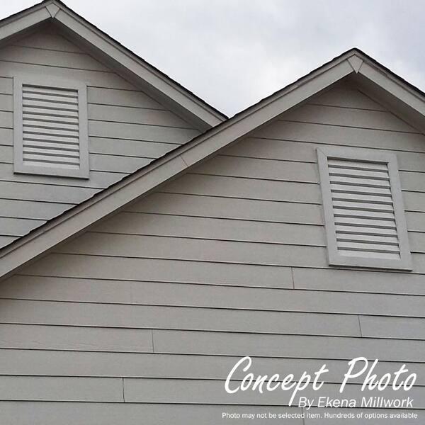 Ekena Millwork GVWOT12X1201RFPWR Rough Sawn Gable Vent Western Red Cedar 17 W x 17 H Opening: 12 W x 12 H Primed