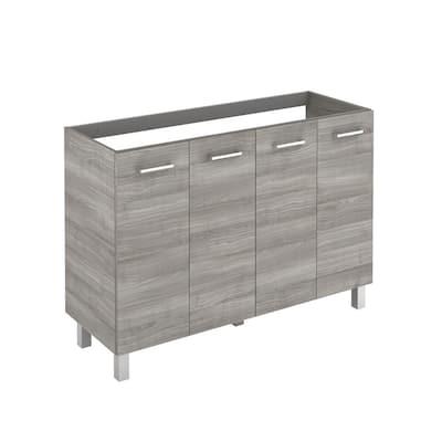 Logic 47.3 in. W x 18.0 in. D x 32.5 in. H Bath Vanity Cabinet Only in Sandy Grey