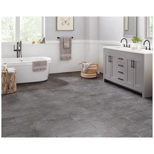 Trafficmaster Cascade Ridge 24 In X 12, Home Depot Bathroom Floor Tiles