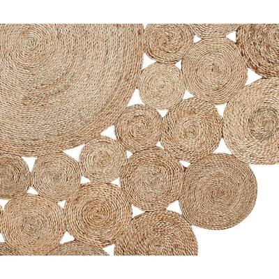 Coastal Durable Mildew Moisture Resistant Reversible Natural 6 ft. x 6 ft. Round Jute Indoor/Outdoor Area Rug