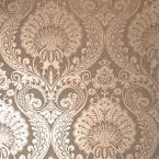 Luxe Damask Chocolate Vinyl Strippable Roll (Covers 56 sq. ft.)