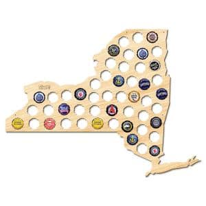 21 in. x 16 in. Large New York Beer Cap Map