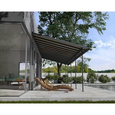Sierra 10 ft. x 32 ft. Gray/Bronze Aluminum Patio Cover