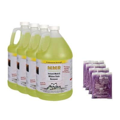 Pro (4)-1 gal. Instant Mold/Mildew Stain Remover and (4)-2 oz. Concentrate (Makes 1 gal. each) Mold/Mildew Disinfectant