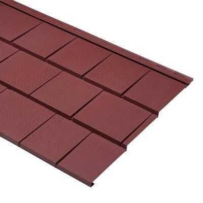Take Home Sample Cedar Dimensions 9 x  24 in. Polypropylene Triple 5 Shingle Siding in Russet Red