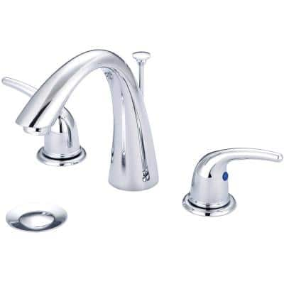 Accent 8 in. Widespread 2-Handle Bathroom Faucet in Polished Chrome