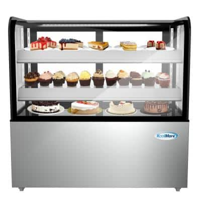 48 in. 13 cu. ft. Commercial Refrigerator Bakery Display Case in Stainless Steel