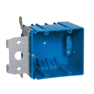 2-Gang 34 cu. in. Adjustable PVC Electrical Box with Side Clamp
