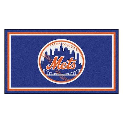 MLB - New York Mets 3 ft. x 5 ft. Ultra Plush Area Rug