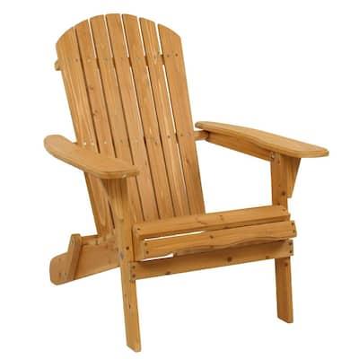 Classic Wooden Folding Wood Adirondack Chair