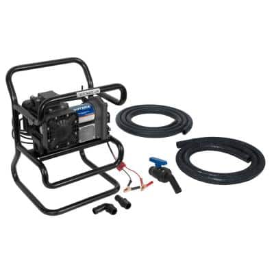 12-Volt 15 GPM 1/4 HP Agricultural Utility Chemical Transfer Pump Package (Chemtraveller)