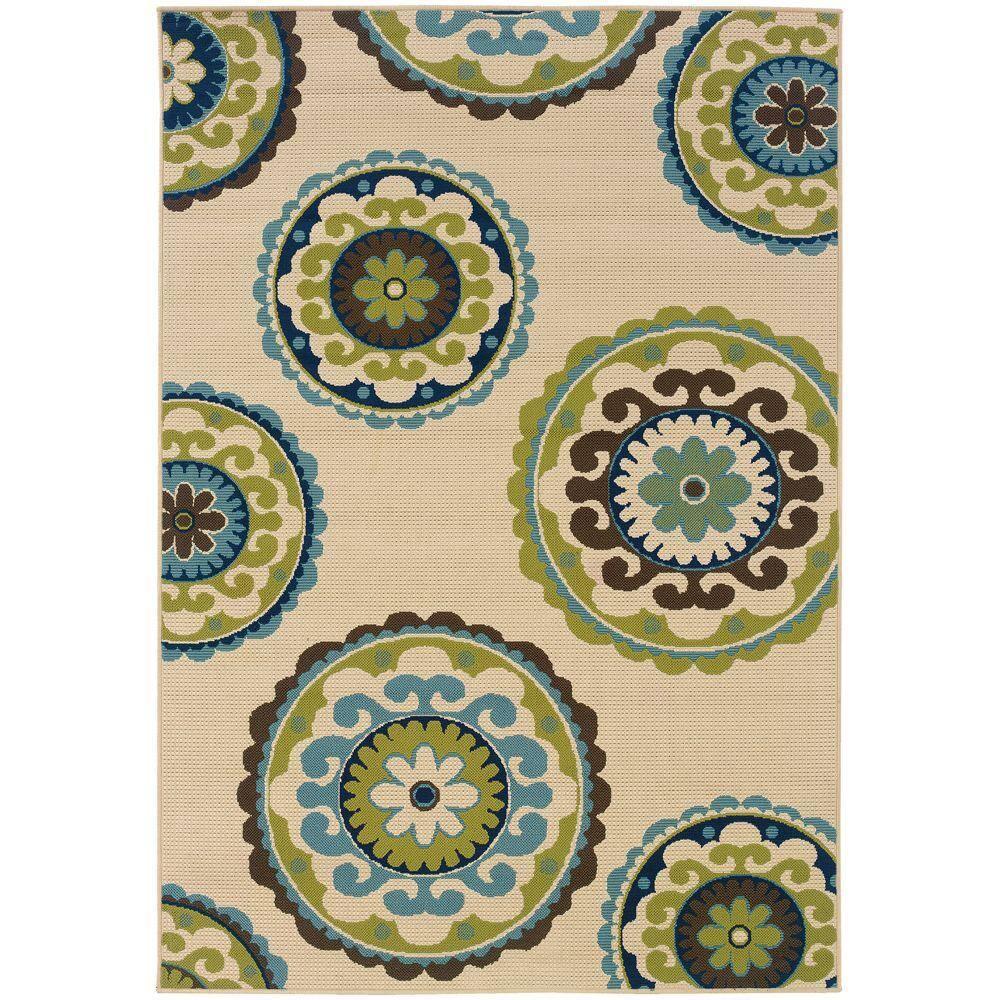 Home Decorators Collection Cabana Beige, Brown Outdoor Carpet Menards