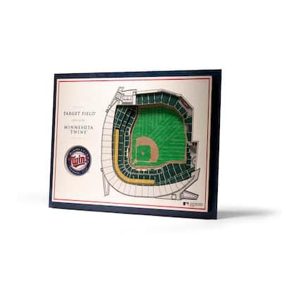 MLB Minnesota Twins 5-Layer Stadiumviews 3D Wooden Wall Art