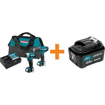 12-Volt MAX CXT 1.5 Ah Combo Kit (2-Piece) with Bonus 12-Volt MAX CXT Lithium-Ion High Capacity Battery Pack 4.0 Ah