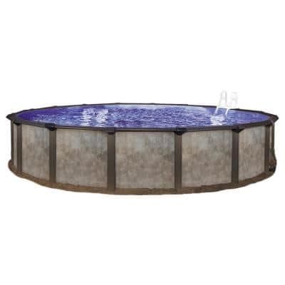 12 ft. Round 70 in. D Hard Side Steel Frame Swimming Pool Package