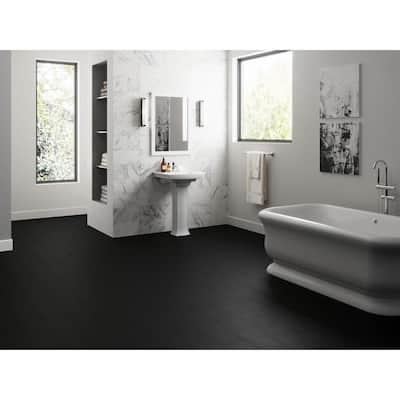 MaxCore Piano Black 7.31 in. W x 48 in. L Click-Lock Luxury Vinyl Planks Flooring (24.5 sq.ft. / Case)