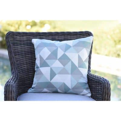 Ruskin Lakeside Square Outdoor Accent Throw Pillow (Set of 2)