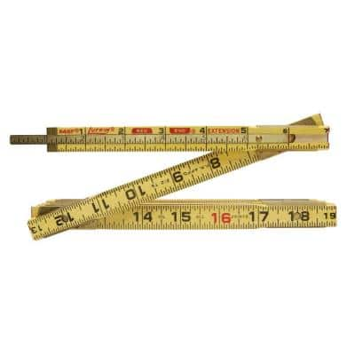 6 ft. x 5/8 in. Wood Ruler with 6 in. Slide Ruler Extension