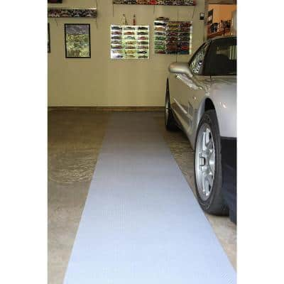 2 ft. 5 in. x 18 ft. Diamond Plate Grey Commercial Polyester Garage Flooring