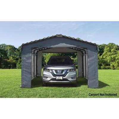 12 ft. W x 20 ft. D Enclosure Kit for Carport with Convenient Drive-Through Access and Heat-Sealed Seams