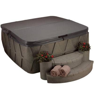 AR-500 Replacement Spa Cover - Walnut
