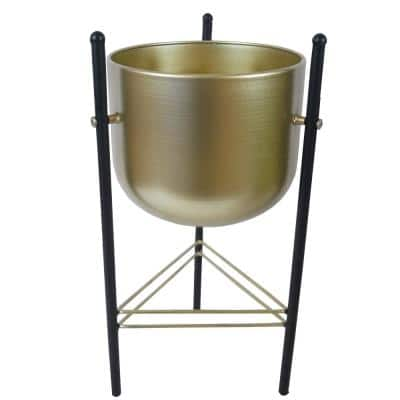 Black Gold plant stand Contemporary Plant Pot, Mid Century Flower Pot Holder Stand Indoor Display Rack