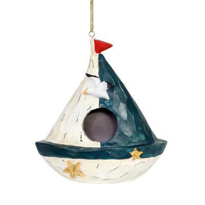 Sail Boat Resin Birdhouse