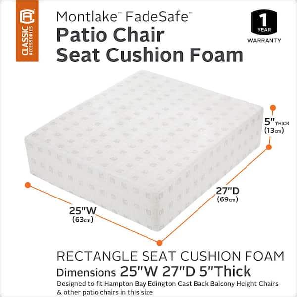 Classic Accessories 25 In W X 27 D, Outdoor Furniture Foam For Cushions